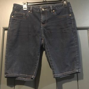D. Jeans Denim Shorts with Embellished Pockets